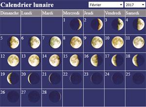 Calendrier Lunaire Fevrier.Calendrier Lunaire Pleine Lune Nouvelle Lune Les Phases